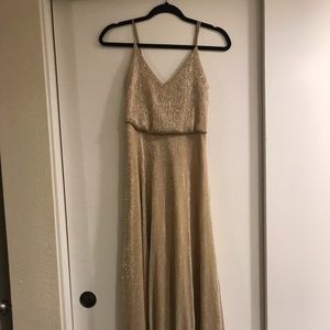 Gold shimmery dress